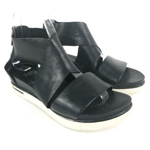 Eileen Fisher Sport Leather Sneaker Sandal Black